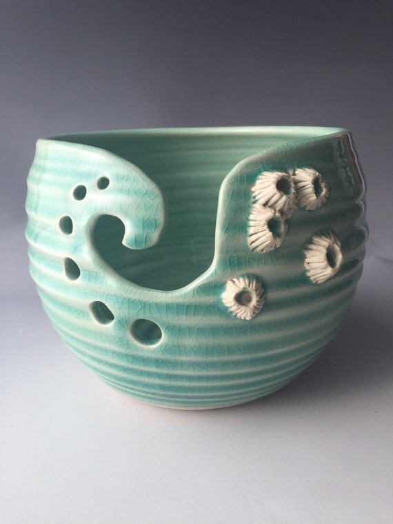 Yarn Bowl Knittting Bowl with Barnacles by wild