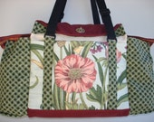 Deluxe Knitting/Crochet Tote Bag/Project Bag/Two Pocket Yarn Organizer/Handmade Knitting Bag-BARCELONA