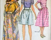 Vintage Sewing Pattern Simplicity 8699 Misses' Blouse, Skirt and Shawl Size 10 B 32  Complete