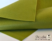 Pea Soup, Wool Blend Felt, Wool Felt Sheets, Wool Felt Fabric, Green Felt Fabric, Green Felt Sheets, Green Wool Felt, Green Craft Felt