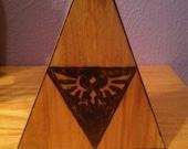Legend of Zelda Tri-force block (Hyrule crest)