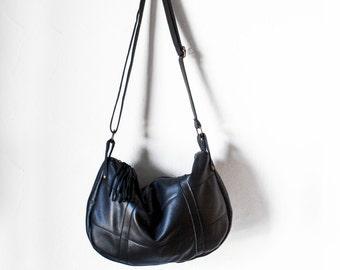 SALE Black crossbody leather bag, Black shoulder bag, Messenger bag, Leather Crossbody Bag, Crossbody Bag, Leather Bag, Leather Messenger