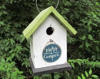 Happy Camper Birdhouse Camping Fun Primitive