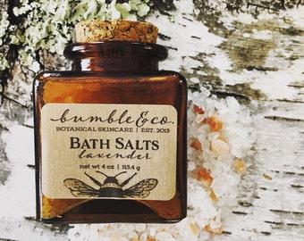 Lavender Bath Salts | All Natural Lavender Bathing Salts | Detoxifying Bath Soak | Bath Salt Favors | Christmas Gift Ideas for Wife