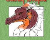 Coloring Dragons Adult Coloring Book Dragon Coloring Book by Nina Bolen PDF digital version
