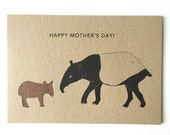 Tapir Mother's Day card