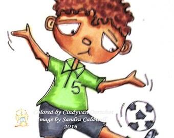 827 Soccer Silly Digi Stamp