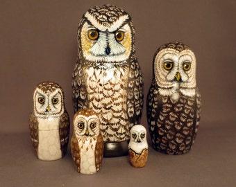 Nesting Doll Owls Set of 5