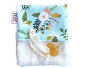 Mint Bouquet Minky Binky Blanket