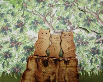 WALDORF Wooden Owl Toys*Kids Toy*Montessori*Montessori Materials*Pretend Playscape
