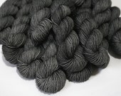 Hand Dyed Artisan Yarn, Tonal Kettle Dyed Sock Yarn, Semisolid SW Merino Nylon Yarn, 20g Quick Step MINIS - Soft Iron (dyelot 72116)