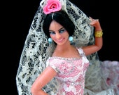 Vintage Marin Chiclana Doll - Fiesta in Pink - with Tag - 1960s