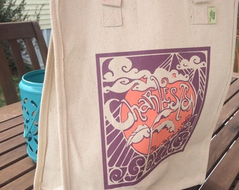 Charleston Grow Your Own Roots Tote - Soft purple