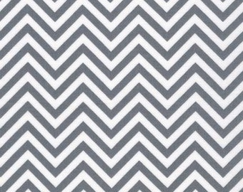 Chevron Fabric, Gray Fabric, Baby fabric, Quilt fabric by Ann Kelle, Remix Chevron in Gray, You Choose the Cut, Free Shipping Available