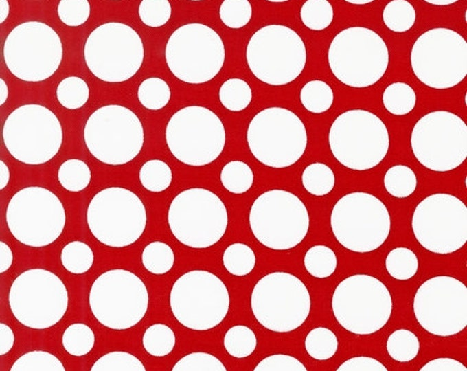 SALE fabric, Polka Dot fabric, Red and White fabric, Spot On fabric by Robert Kaufman, Multi Dot in Red, Kids fabric, Choose your cut