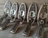 VINTAGE SUPPLIES...price per piece key lock - furniture door making carpenter supplies boho - cottage home