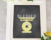blessed sign, art print