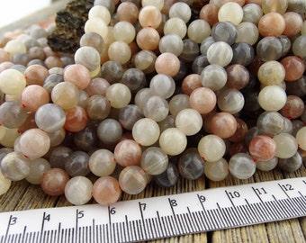 8mm Moonstone Beads, Moonstone Gemstone Beads, White Moonstone, Peach Moonstone, Gray Moonstone, Natural Moonstone Beads