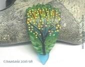 SIGNS of FALL...handmade lampwork bead by Anastasia...SRA...ooak...