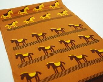 Pierre Cardin Paris 1970's Vintage Donkey Novelty Print Pure Silk Long Scarf