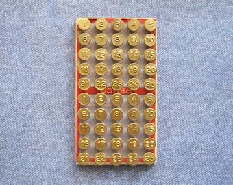 Brass Number Tack Tag Nails Antique Numbered Thumb Screen Window Hardware Retro German Diy Repurpose Supplies