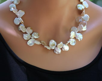 Keishi Petal Pearls - Necklace - Petal Pearls - Sterling Silver