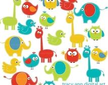 Bright Baby Animals  Clipart  Mega Set Clip art