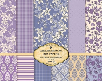 Mauve Digital Backgrounds for scrapbooking, card making, photographers, photo cards - Kim