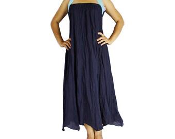 Boho Hippie 2 in 1 Smock Maxi Dress& Summer Long Skirt (SD 05)
