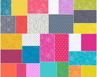 """SQ60 Andover SUN PRINT 2016 Precut 5"""" Charm Pack Fabric Quilting Cotton Squares Alison Hall"""
