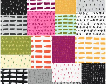 "SALE 40% Off Robert Kaufman Color Dash Ten Squares 10"" Precut Fabric Quilting Cotton Layer Cake Heather Jones TEN-482-42"