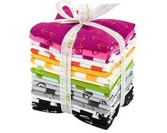 SALE 30% Off Robert Kaufman COLOR DASH Fat Quarter Bundle 18 Precut Cotton Fabric Quilting FQs Heather Jones fq-1097-18