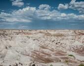 Arizona Photography, Wasteland Decor, Desert Landscape Photography, Badlands Petrified Forest, Blue Grey Decor, Fine Art Photography