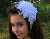 White Pearls Hairpiece  t...