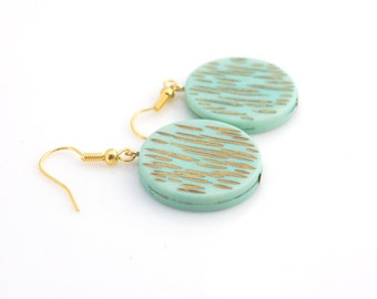 Mint Disc Earrings
