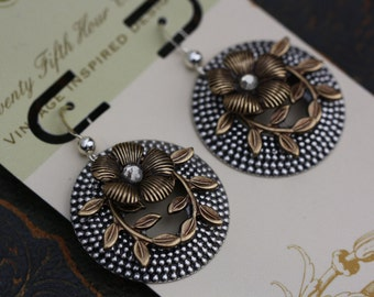 Two toned earrings