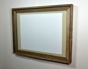 18x24 rustic wood frame with mat for 11x17,12x18 or 13x19