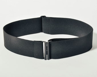 Black Wide Elastic Belt