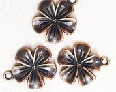 12 pcs of Antique copper flower pendant 20x19mm, copper alloy pendant , bulk antique copper flower, copper flower pendant, flower pendant