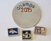 Denver Broncos Themed Charms and Locket Plate.....CHOOSE ONE