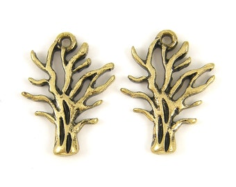 Antique Gold Tree Earring Findings Bare Tree Branches Tree Charm  G15-5 2