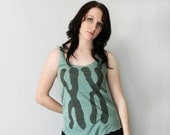 Green Yoga Tank Top, Womens XX shirt, back to school, gift for teen, chromosomes, yoga clothes, geeky workout tank, gym wear, yoga top