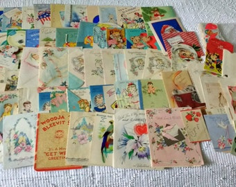 Vintage Group 100+ Used Assorted Greeting Cards