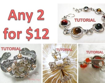 WIRE JEWELRY TUTORIAL Package - Any 2 Tutorials for USD12