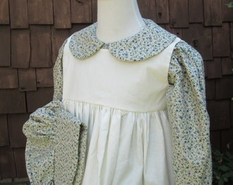 Girls Pioneer dress/Little House Prairie Costume/long  sleeves..Made to order (PLEASE  check lead time inside ad)