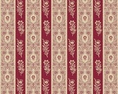 CLEARANCE! The Era Of Jane Collection-Border-Red-by Sue Daley Designs for Penny Rose Fabrics -Cotton Fabric- Quilt Cotton-Fabric by the Yard