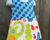 Pinafore Size 2T --- monkey (((ready to ship)))