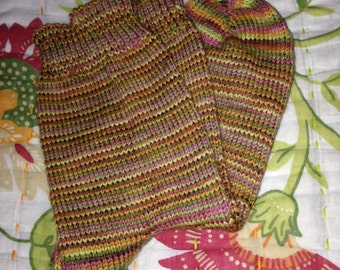 Autumn Colors Mini-Stripe Wool Socks