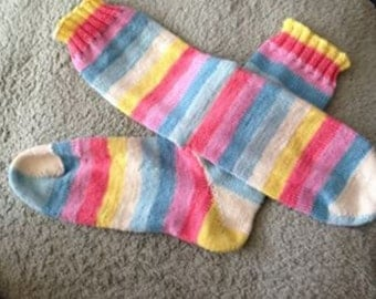 Shades of Pastel Stripes  Wool Socks
