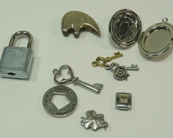 Assorted Silvertone  Bits And Baubles Embelishments For Jewelry Making, Paper Crafting, Scrapbooking